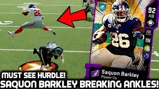 SAQUON BARKLEY BREAKING DEFENDERS' ANKLES! GREATEST HURDLE!? Madden 20 Ultimate Team