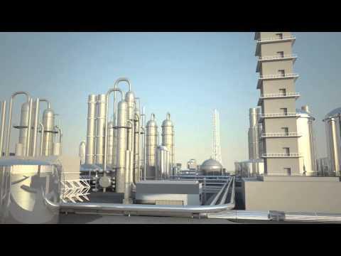 Chemical Plant. 3D Simulation. AgLa4D.