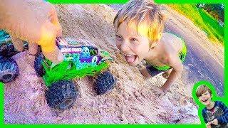 Axel's Monster Truck Crazy Ramp - Toy Trucks for Kids