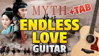 Jackie Chan & Kim Hee Seon - Endless Love [Myth OST] (Acoustic Guitar Cover with TAB)
