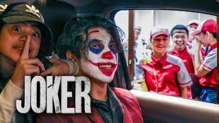 JOKER Drive Thru Scare Prank!! | Ranz and Niana
