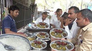 Delicious Roadside Veg & Non Veg Meals | Chicken Rice/Boti Rice/Fish Rice | Street Food Mumbai