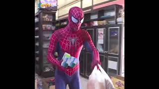 Man dresses up as Spider-man, helps neighbours with essent..