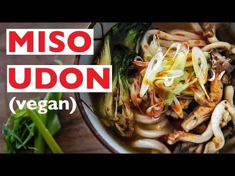 VEGAN HOT MISO UDON RECIPE | JAPANESE STYLE NOODLE SOUP LIKE RAMEN