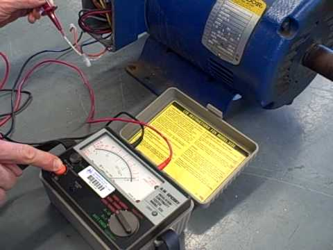 Quot Megger Quot Insulation Test On A Bad Motor Youtube