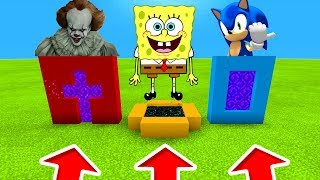 Minecraft PE : DO NOT CHOOSE THE WRONG PORTALS! (Pennywise, Spongebob & Sonic)