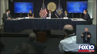 New York Governor Andrew Como press briefing
