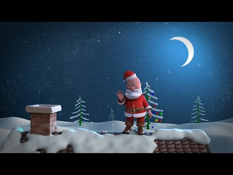 Animated Christmas Card Template - Santa Stuck in Chimney