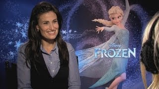 Idina Menzel talks about husband Taye Diggs in Disney's Frozen interview