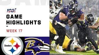 Steelers vs. Ravens Week 17 Highlights   NFL 2019