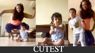 Sameera Reddy dancing with her kids- Cutest video..