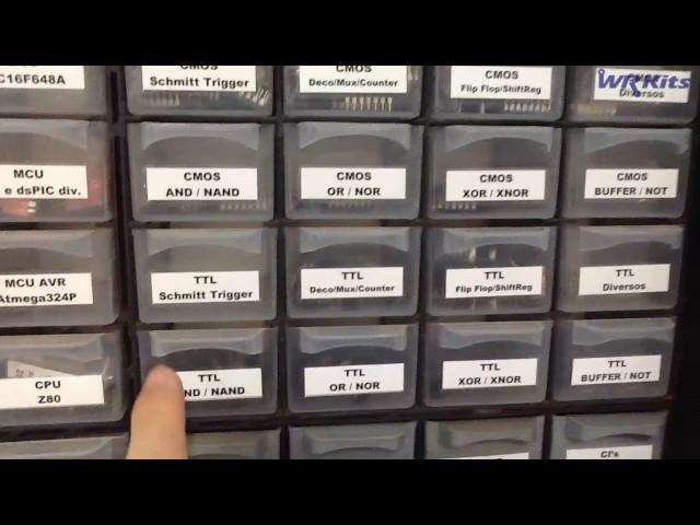APRENDA A ORGANIZAR SEUS COMPONENTES ELETRÔNICOS | Conheça Eletrônica! #007