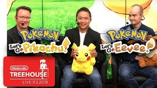 Pokémon: Let's Go, Pikachu! & Pokémon: Let's Go, Eevee! - Nintendo Treehouse: Live | E3 2018