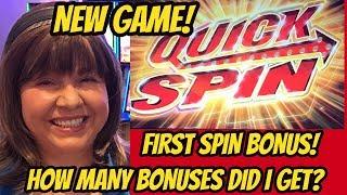 FIRST SPIN BONUS! NEW GAME QUICK SPIN SLOT MACHINE-POKIES