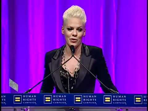 P!NK - 'Ally for Equality' Award - Acceptance Speech [HRC National ...