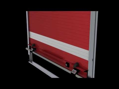 AMDOR Roll-Up Door w/Magnetic Door Ajar Switch & Luma Bar Integral LED Lights