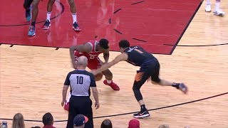 Devin Booker Nutmegs Clint Capela And Hits Incredible Shot After Almost Losing The Ball
