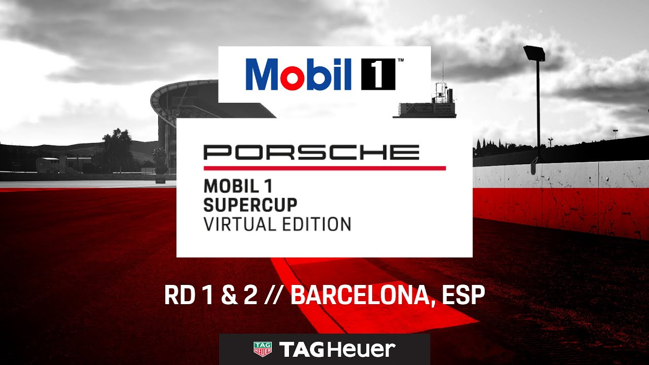 Porsche Mobil 1 Supercup Virtual Edition 2020, carreras 1 y 2, Barcelona