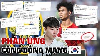 Bất ngờ với phản ứng của cộng đồng mạng Hàn Quốc về Công Phượng!!