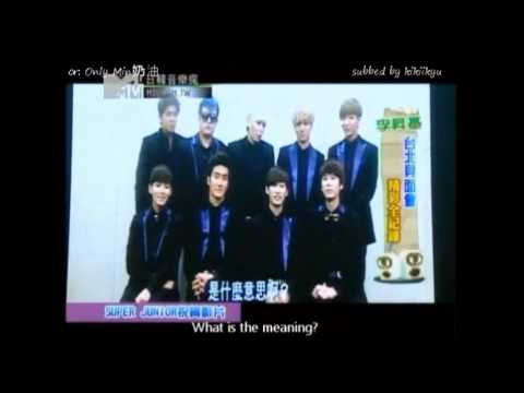 [Eng/fancam] 120902 Super Junior's message to Lee Seung Gi for his Taiwan fanmeet