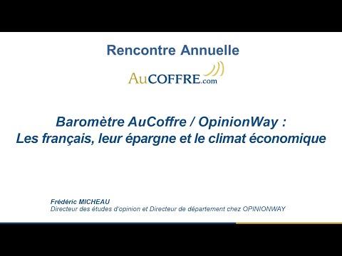 Les français, leur épargne et le climat économique, Frédéric Micheau - AuCOFFRE.com