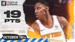 RJ Barrett Full Highlights Knicks vs Pelicans 2019.10.18 - 19 Points!