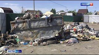 В Омске вновь обнаружены кучи мусора