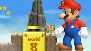 New Super Mario Bros Wii - All Warp Cannons with Giant Mario