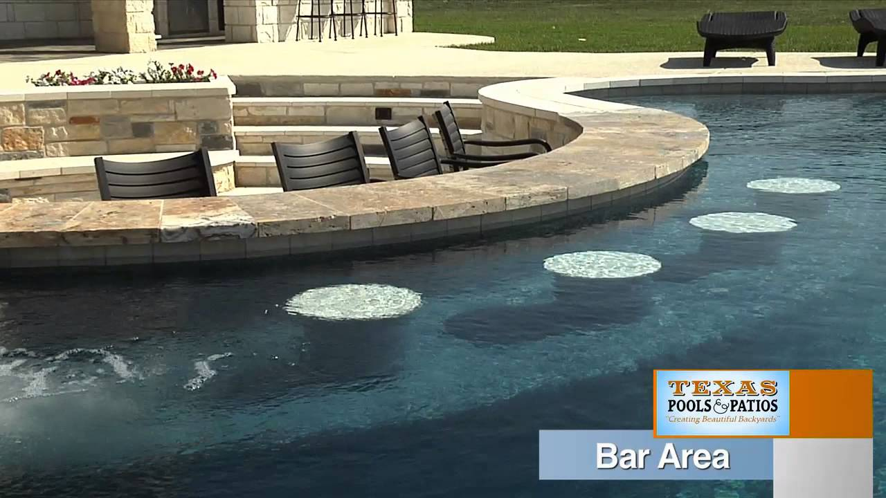 Pool Features Swim Up Bar Texas Pools And Patios Youtube