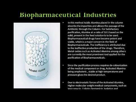 Role of Activated Alumina in Bio pharmaceutical Industries.