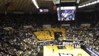 IU SUCKS Chant at Senior Night 2012 Purdue Basketball