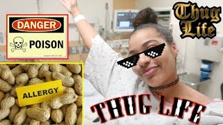 I Only Ate foods I'm Allergic to for 24 hours 😳 DO NOT TRY THIS IMPOSSIBLE CHALLENGE! 🙅🏽😭
