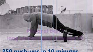 Most push-ups in 10 minutes.. my personal best!! :D