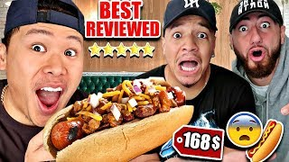 Eating The BEST Reviewed HOT DOG Restaurant In The World! (Impossible Food Challenge) 6 STAR RATING