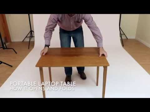 Portable Laptop Table: How it Opens and Folds