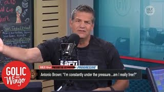 Golic & Wingo are tired of Antonio Brown 'whining' about privacy | ESPN