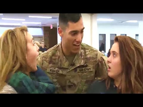 Welcome Home Soldier Surprise Homecoming Compilation 26