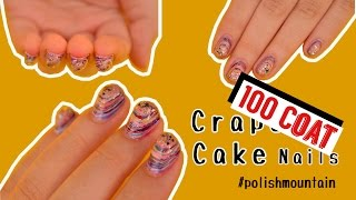 Crape Cake Nails #polishmountain