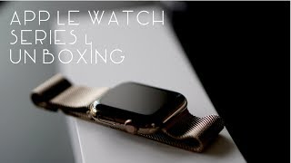 Apple Watch Series 4 Unboxing   Gold Stainless Steel 44mm