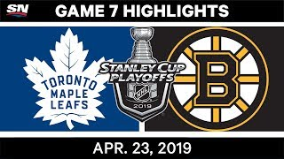 NHL Highlights | Maple Leafs vs. Bruins, Game 7 - April 23, 2019
