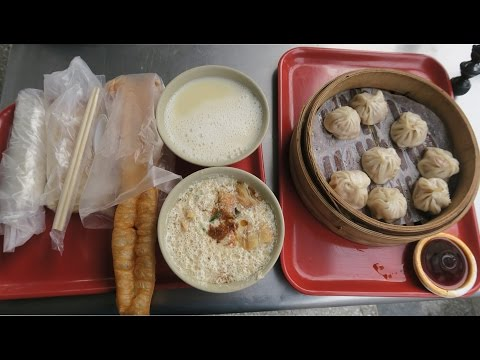 A Typical Traditional Taiwanese Breakfast