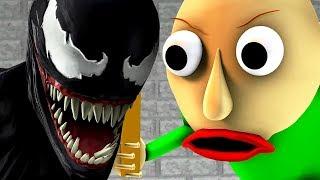 BALDI vs VENOM (Baldi's Basics parody horror game 3D animation)
