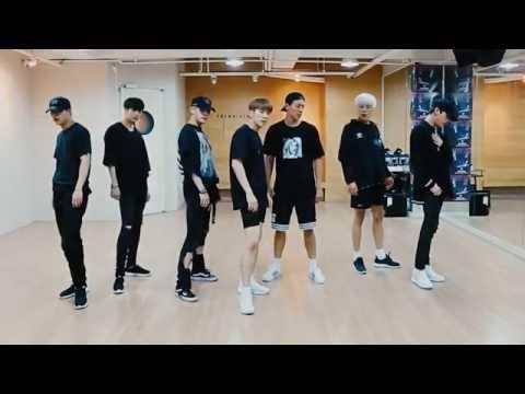 Monsta X 'Stuck' mirrored Dance Practice