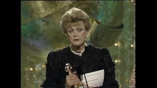Angela Lansbury Wins Best Actress TV Series Drama - Golden Globes 1990
