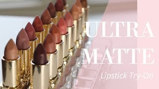Trying on Every Lipstick: L'Oréal Ultra Matte Highly Pigmented Lipsticks | Bailey B.