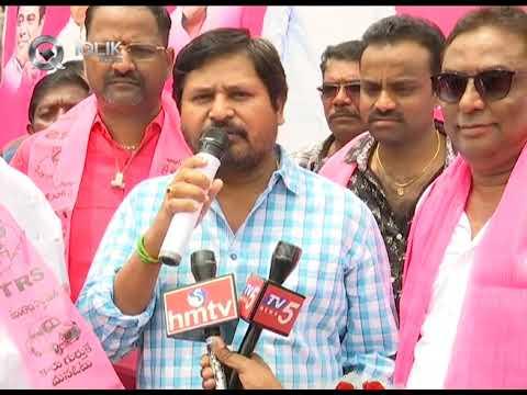 Ksheerabhishekam to Telangana CM KCR Portrait