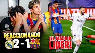 HINCHAS del BARÇA REACCIONAN al REAL MADRID 2 - 1 BARÇA *hemos perdido la liga...*