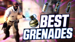 CS:GO - 20 MINUTES OF INSANE PRO GRENADES! (PERFECT POP FLASHES & 200 IQ SMOKES)