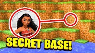 Minecraft : WE FOUND MOANA'S SECRET BASE!(Ps3/Xbox360/PS4/XboxOne/PE/MCPE)
