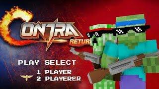 Monster School : GARENA CONTRA: RETURN CHALLENGE - Minecraft Animation
